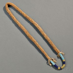 Northern Plains Braided Sweetgrass Necklace