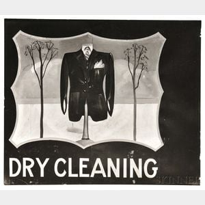 """Walker Evans (American, 1903-1975)      Hand-painted """"Dry Cleaning"""" Sign, Near Baton Rouge, Louisiana"""