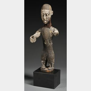 African Carved Wood Marionette