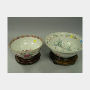 Two Chinese Export Porcelain Bowls.
