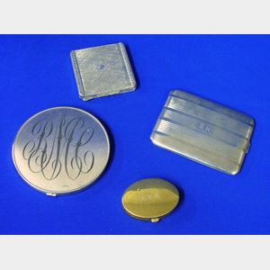 Two Sterling Compacts, a Sterling Cigarette Case, and an .800 Silver Compact