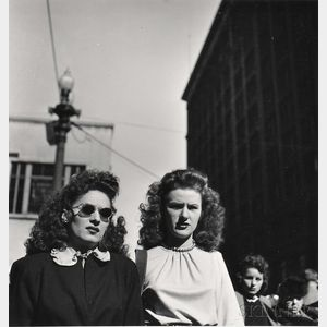 Walker Evans (American, 1903-1975)      Corner of State and Randolph Streets, Chicago