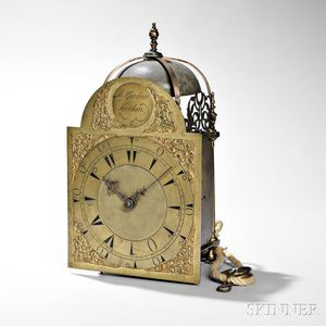 Thomas Gardner Brass Lantern Clock for the Turkish Market