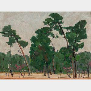 Jane Peterson (American, 1876-1965)    Florida Landscape