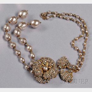 "Vintage ""Edwardian Revival"" Tassel Necklace, Miriam Haskell"