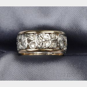 14kt Gold and Platinum Band