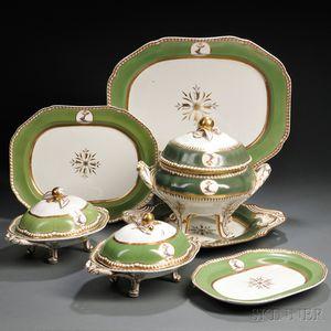 Spode Felspar Armorial Porcelain Partial Dinner Service