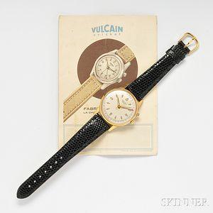 "Gentleman's ""Vulcain Cricket"" Alarm Wristwatch"