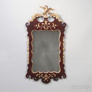 Walnut and Gilt-gesso Mirror