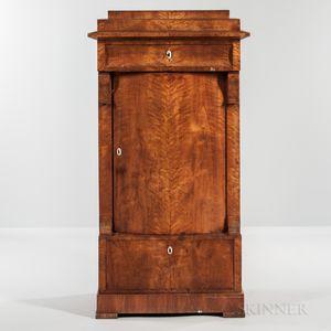 Biedermeier Fruitwood-veneered Tall Cabinet
