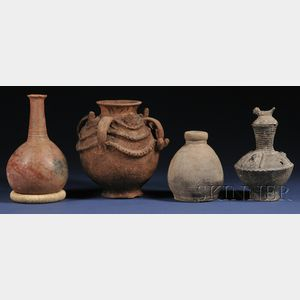 Four African Pottery Vessels