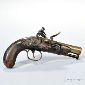 Brass-barreled Flintlock Pistol