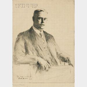 Frank Weston Benson (American, 1862-1951)    Portrait of Doctor Hugh Williams