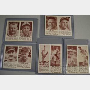 Five 1941 Double Play Baseball Cards