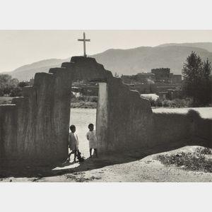 Ansel Adams (American, 1902-1984)      South House and Church Gate