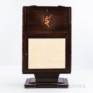 Art Deco Inlaid Rosewood Liquor Cabinet