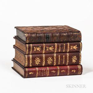 Small Leather Book-form Liquor Box
