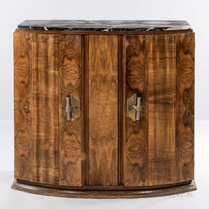 Art Deco Burl Maple Cabinet