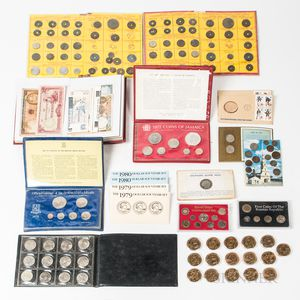 Small Group of Mint and Proof Sets, World Currency, and Commemorative Medals
