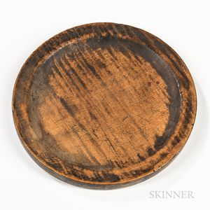 Turned Tiger Maple Plate