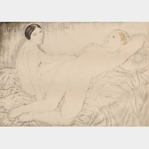 Léonard Tsuguhara Foujita (Japanese/French, 1886-1968)      Les deux amies