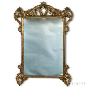 Rococo-style Carved Giltwood Mirror
