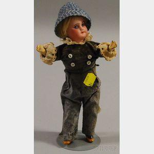 Small SFBJ 60 Bisque Head Doll