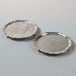 Two George III Irish Silver Salvers