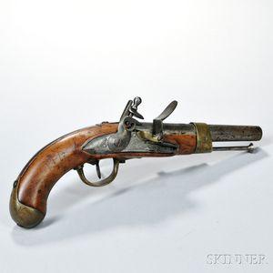 French An XIII Flintlock Pistol