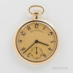Patek Philippe & Co. 18kt Gold Open-face Watch