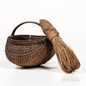 Lavender Wand/Whisk and Small Buttocks Basket