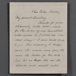 Barton, Clara (1821-1912) Autograph Letter Signed, Glen Echo, Undated.