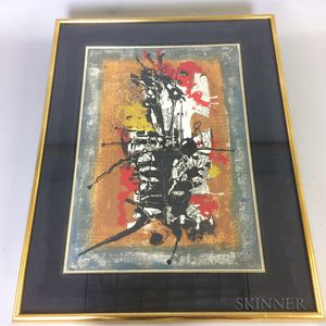 Framed Modernist Lithograph