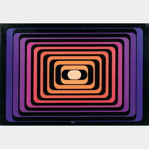 Yvaral (Jean-Pierre Vasarely) (French, 1934-2002)      Progression Polychrome B