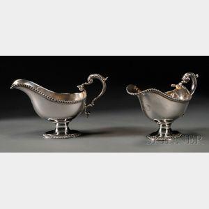 Pair of English Silver Sauceboats