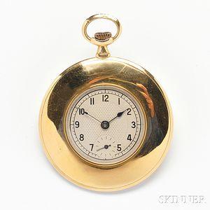 18kt Gold Open Face Pocket Watch