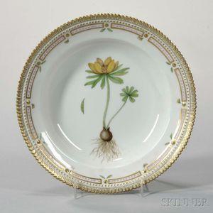 """Twelve Royal Copenhagen """"Flora Danica"""" Porcelain Soup Plates"""