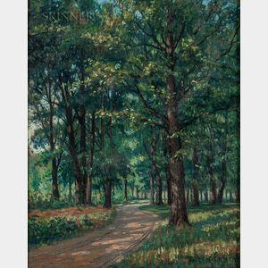 European School, 19th Century      Road Through the Woods