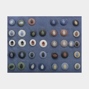 Collection of 65 Wedgwood Seminar Buttons