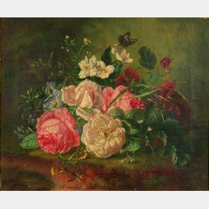 Amalie Kärcher (German, 19th Century)    Floral Still Life