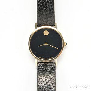 "Movado, Gentleman's 14kt Gold ""Zenith Museum"" Wristwatch"