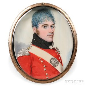 Frederick Buck (Irish, 1771-1840)      Portrait Miniature of a Military Officer.