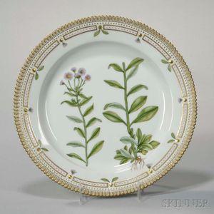 """Twelve Royal Copenhagen """"Flora Danica"""" Porcelain Large Plates"""