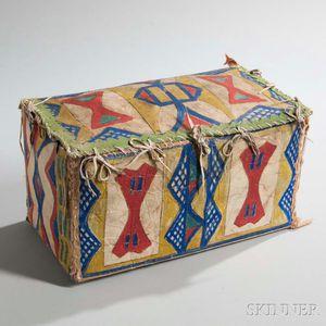 Lakota Polychrome Parfleche Box