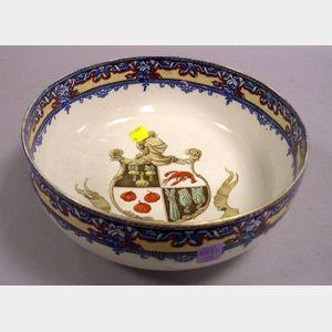 Royal Doulton Transfer and Handpainted Heraldic Ceramic Bowl.