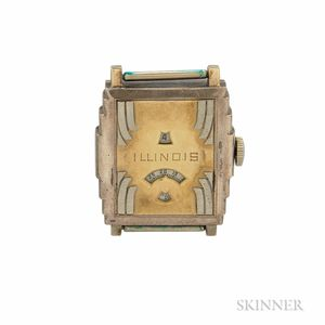 "Illinois ""Jump Hour"" Wristwatch"