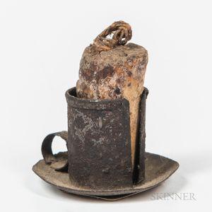 Miniature Tinned Iron Chamber Candlestick