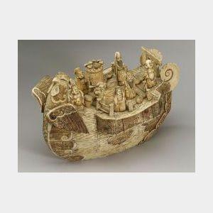 Okimono of a Boat