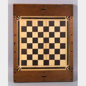 Inlaid Wooden Checkerboard