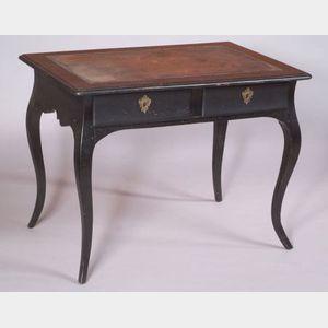 Louis XV Style Ebonized Writing Table